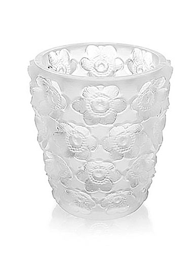 Lalique Crystal, Anemones Crystal Votive, Clear