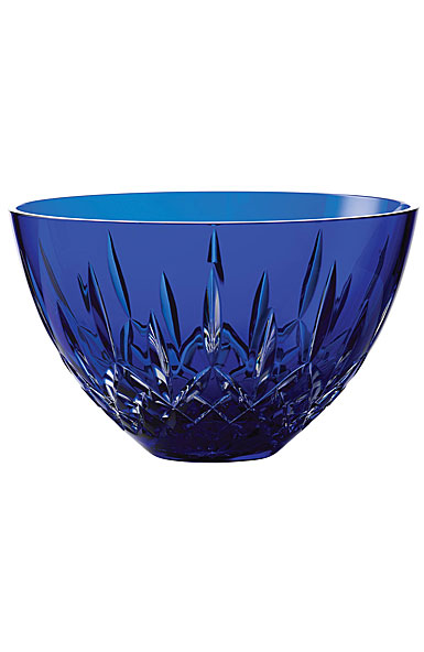 "Waterford Treasures of the Sea, Lismore 8"" Bowl Blue"
