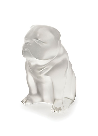 Lalique Crystal, Bulldog Sculpture