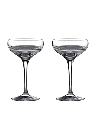 Waterford Crystal Mixology Circon Coupe Small Pair
