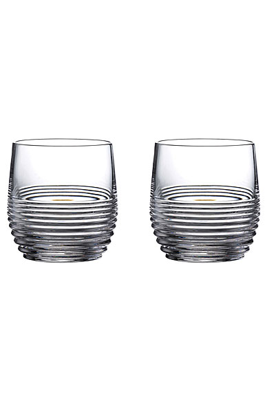 Waterford Crystal Mixology Rum Circon OF Tumbler Pair