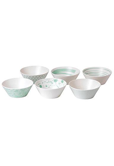"Royal Doulton Pacific Mint6.3"" Bowl Set of Six"