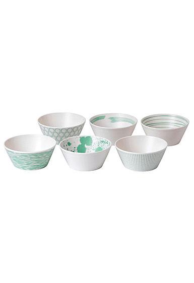 Royal Doulton Pacific Mint Tapas Bowl Set of Six
