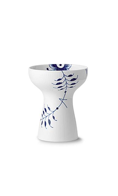 "Royal Copenhagen Blue Fluted Mega Open Vase 7.5"""