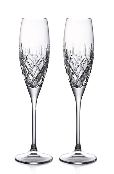 Waterford Crystal Merilee Toasting Flutes, Pair