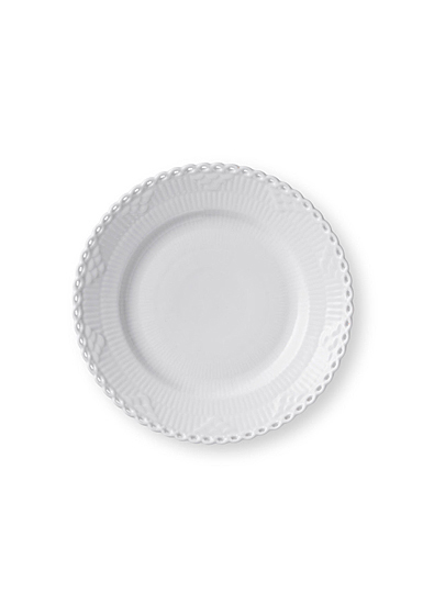 """Royal Copenhagen White Fluted Full Lace Bread and Butter Plate 6.75"""""""