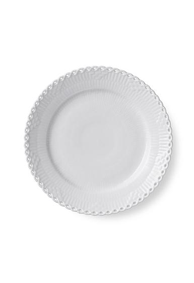 """Royal Copenhagen White Fluted Full Lace Dessert Plate 7.5"""""""