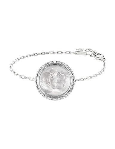 Lalique Crystal Le Baiser Bracelet, Silver