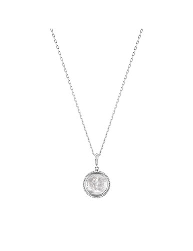 Lalique Le Baiser Pendant Necklace, Silver