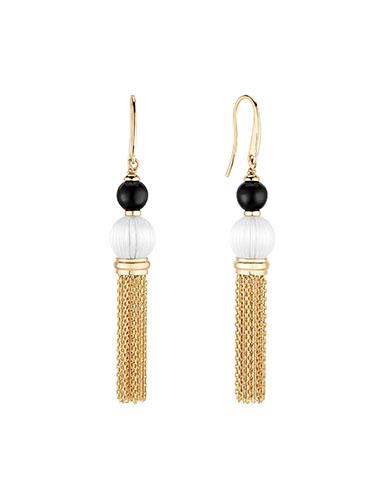Lalique Vibrante Tassel Earrings, Gold Vermeil