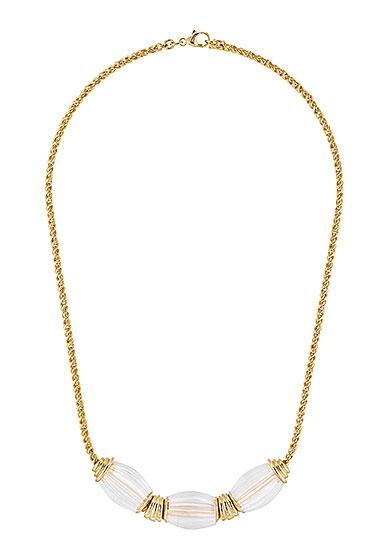 Lalique Vibrante Oval Necklace, Gold Vermeil