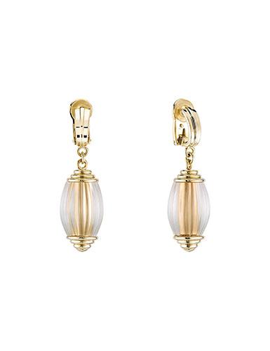 Lalique Vibrante Oval Clip Earrings, Vermeil