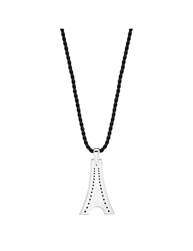 Lalique Tour Eiffel Pendant Necklace, Silver