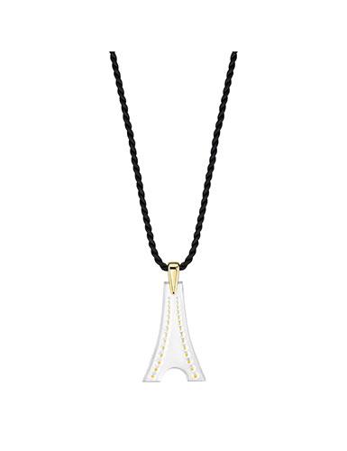 Lalique Tour Eiffel Pendant Necklace, Gold Vermeil