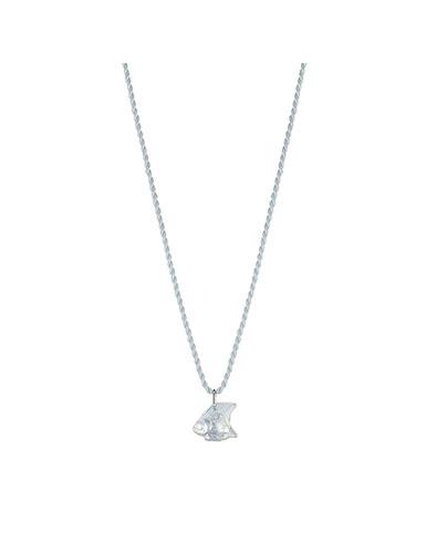 Lalique Poisson Fish Pendant Necklace, Opal