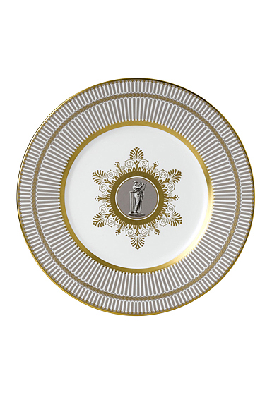 """Wedgwood Anthemion Grey Accent Salad Plate 9"""""""