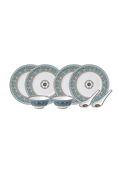 Wedgwood Florentine Turquoise Dining Set For Two With Spoons