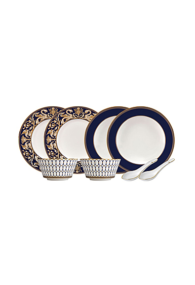 Wedgwood Renaissance Gold Dining Set For Two With Spoons
