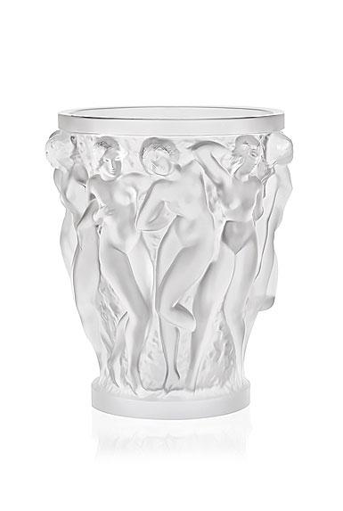 """Lalique Bacchantes 5.75"""" Vase, Clear"""