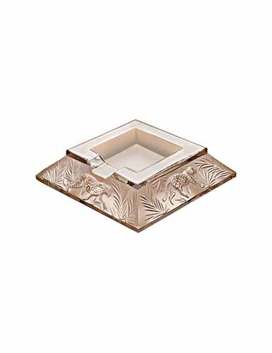 Lalique Jungle Ashtray, Gold Luster