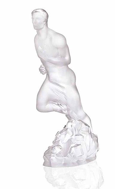Lalique Crystal, Arthur Athlete Nude, Clear