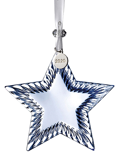 Waterford 2020 Star Ornament Topaz Ice