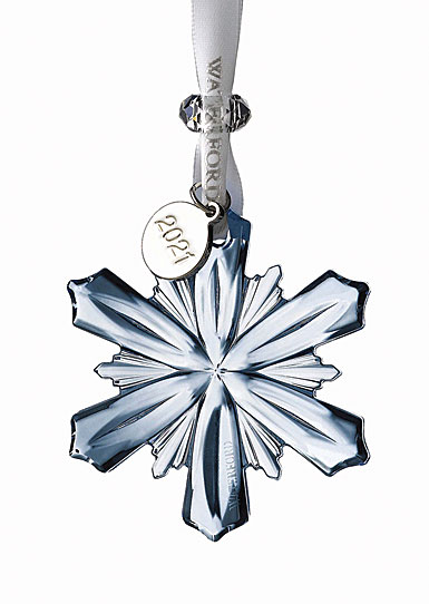 Waterford 2021 Topaz Ice Snowflake Dated Ornament