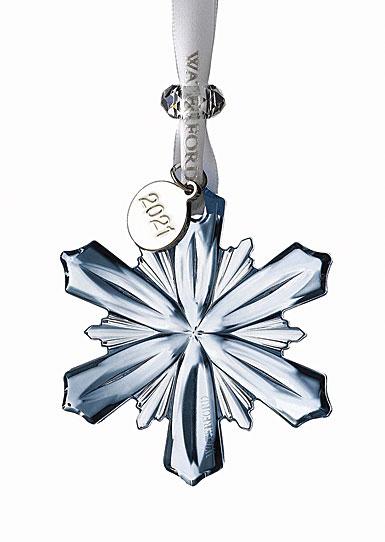 Waterford 2020 Mini Snowflake Ornament Topaz Ice