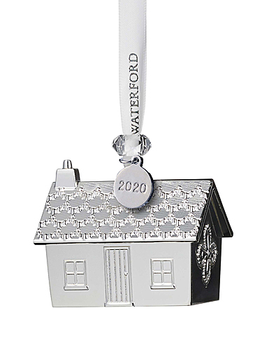 Waterford 2020 Silver Gingerbread House Ornament
