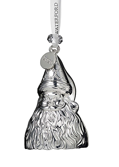 Waterford 2020 Silver Father Christmas Ornament
