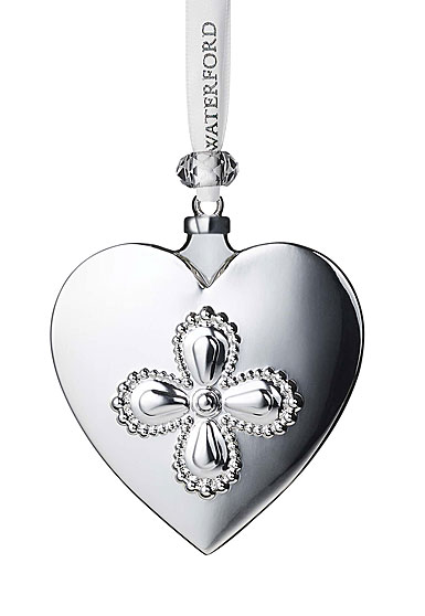Waterford 2020 Silver Heart Ornament