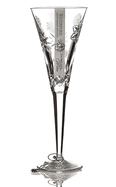 Waterford Snowflake Wishes Love Anniversary Edition Flute, Single