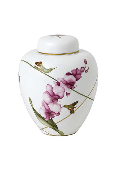 """Wedgwood Hummingbird Lidded Vase 5.9"""""""