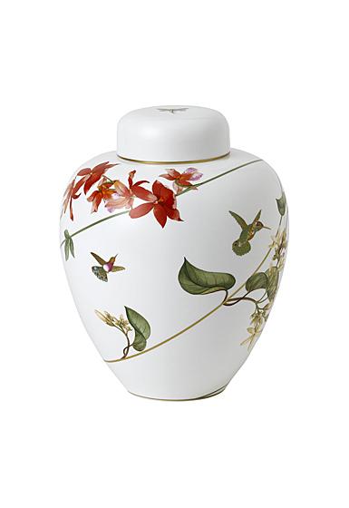 """Wedgwood Hummingbird Lidded Vase 9.8"""""""