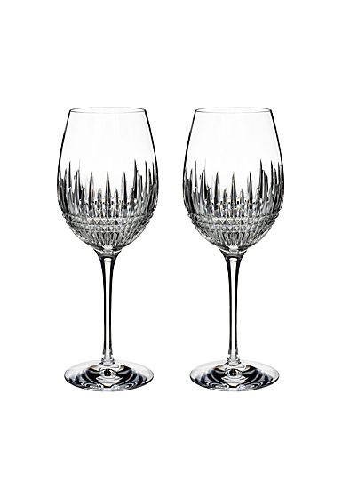 Waterford Crystal Lismore Diamond Essence Goblet Pair