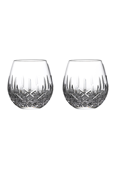 Waterford Crystal Lismore Nouveau Stemless Wine Light Red Pair