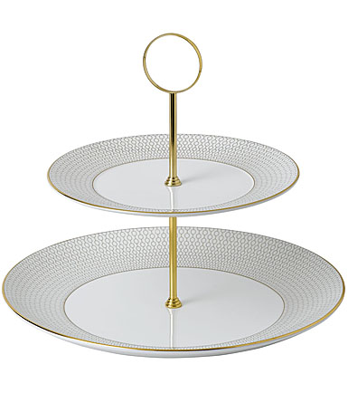 Wedgwood Dinnerware Arris Cake Stand Two-Tier
