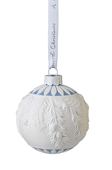 Wedgwood 2021 Frosted Mistletoe Bauble Ornament