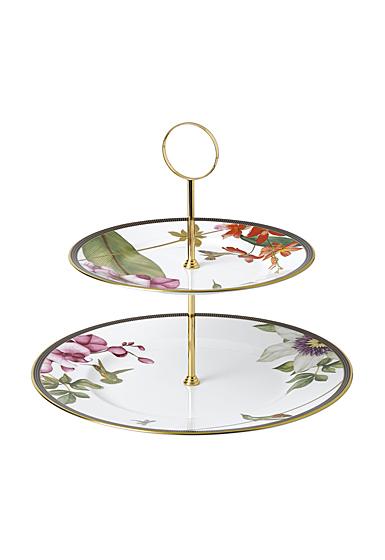 Wedgwood Hummingbird Cake Stand Two-Tier