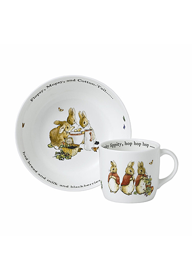 Wedgwood Flopsy Mopsy and Cottontail 2pc Set