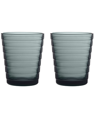 Iittala Designed By Aino Aalto Tumbler 7.75 Oz Dark Grey Pair