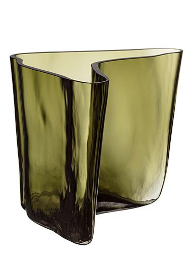 "Iittala Aalto Vase 6.75"" Moss Green"