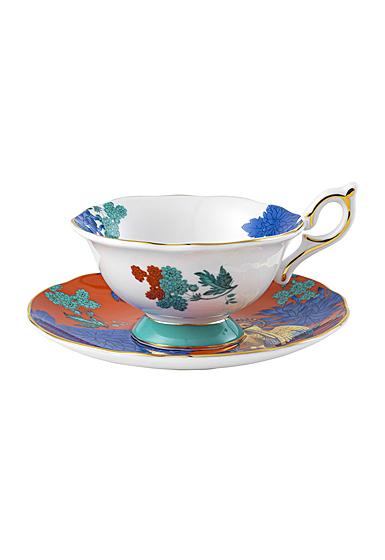 Wedgwood Wonderlust Golden Parrot Teacup and Saucer