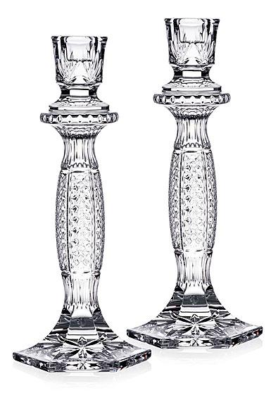 "Waterford Crystal Tara 8"" Candlesticks, Pair"