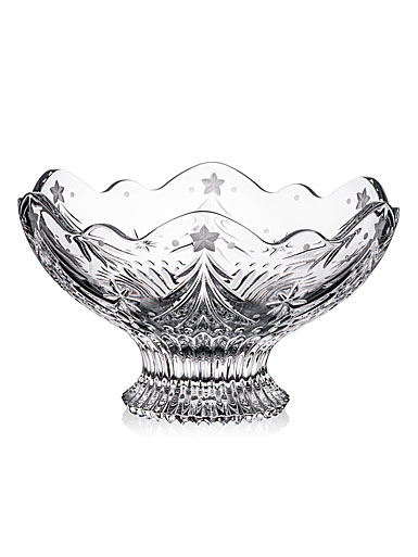 """Waterford Crystal Christmas Night Footed 10"""" Bowl"""