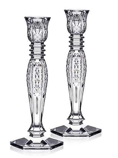 """Waterford Crystal Bethany Candlestick 10"""" Pair"""