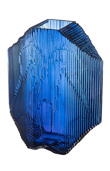 "Iittala Kartta Glass Sculpture 12.5"" Ultramarine Blue"