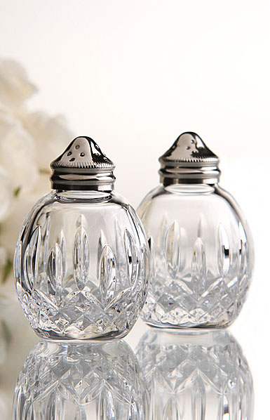 Waterford Crystal, Lismore Classic Round Salt and Pepper