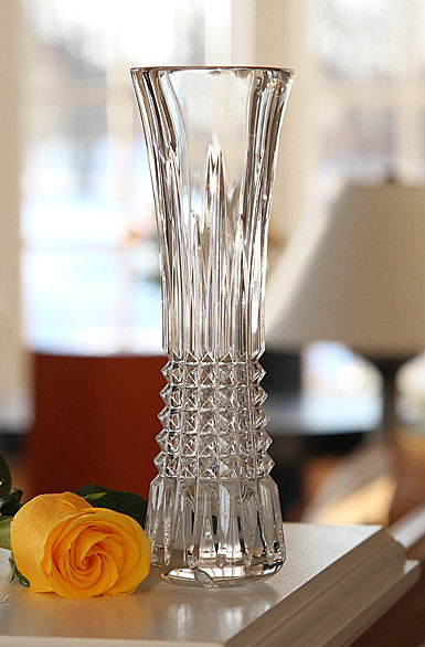 "Waterford Crystal, Lismore Diamond 9"" Bud Crystal Vase"