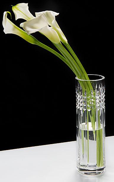"Waterford Crystal, Jeff Leatham Fleurology Tina 9"" Clear Bud Crystal Vase"